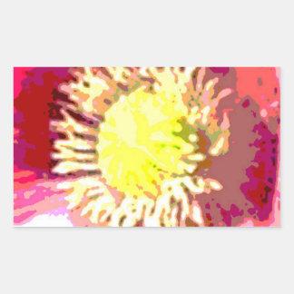 STBX Blumendekoration für Geschenk, Grüße, Rechteckiger Aufkleber
