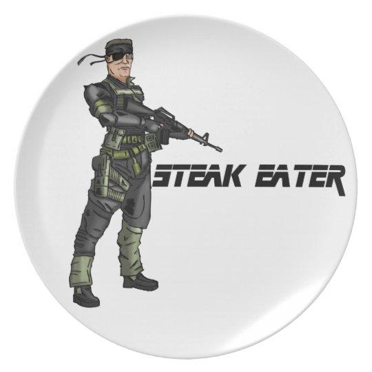 Steak-Esser - Platte Melaminteller