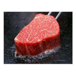 Steak Postkarte