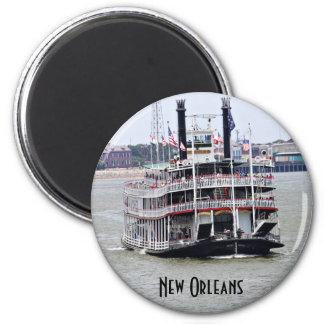 Steamboat auf dem Fluss Mississipi Runder Magnet 5,1 Cm