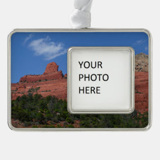 Steamboat-Felsen in Sedona Arizona Fotografie Rahmen-Ornament Silber