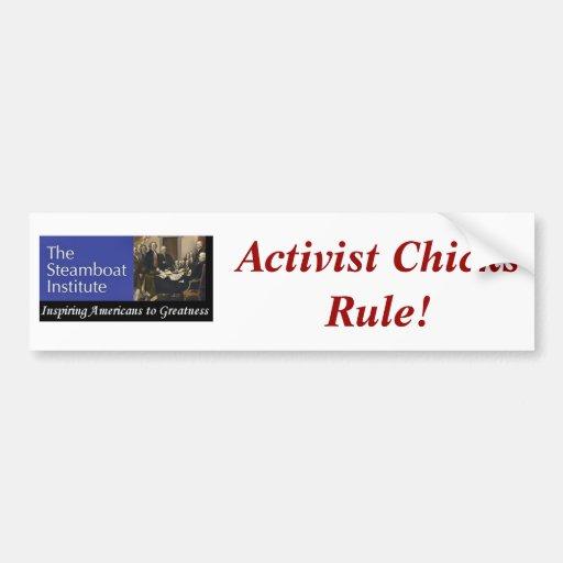 Steamboat Institue--Aktivisten-Küken-Regel! Auto Sticker