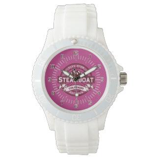 Steamboat-Uhr-Himbeere Armbanduhr