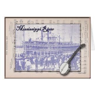 Steamboat und Musik Karte
