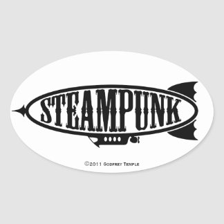Steamfish Ovaler Aufkleber
