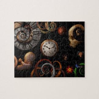 Steampunk - abstrakt - der Anfang und das Ende Puzzle
