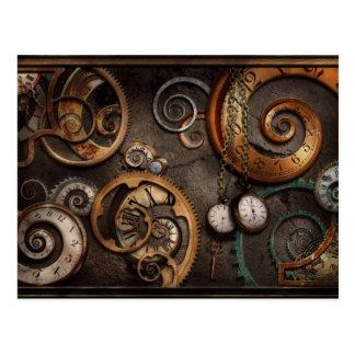 Steampunk - abstrakt - Zeit ist schwierig Postkarte