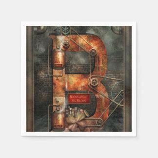 Steampunk - Alphabet - B ist für Gurte Serviette