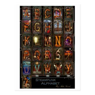 Steampunk - Alphabet - komplettes Alphabet Postkarten