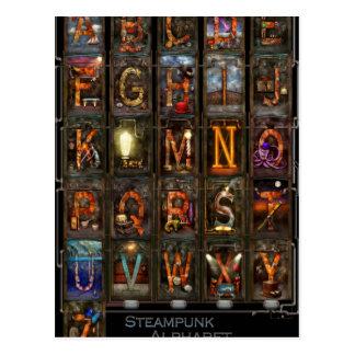 Steampunk - Alphabet - komplettes Alphabet Postkarte