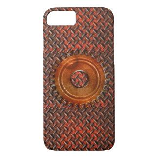 Steampunk alter rostiger Überzug-rotes Metall u. iPhone 8/7 Hülle