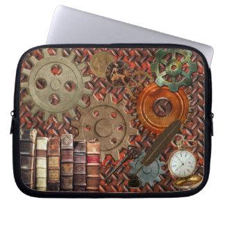 Steampunk alter rostiger Überzug u. Laptop Sleeve