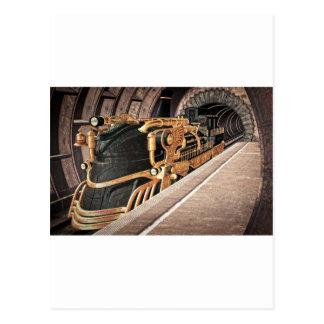 Steampunk ausdrücklich postkarte