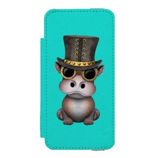 Steampunk Baby-Flusspferd Incipio Watson™ iPhone 5 Geldbörsen Hülle