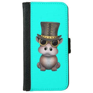 Steampunk Baby-Flusspferd iPhone 6/6s Geldbeutel Hülle