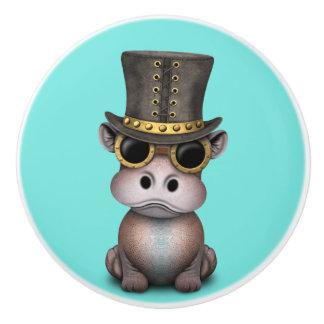 Steampunk Baby-Flusspferd Keramikknauf