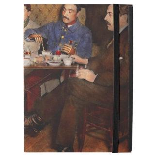 Steampunk - bionische drei Tee 1917 trinkend