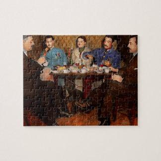 Steampunk - bionische drei Tee 1917 trinkend Puzzle