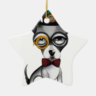 Steampunk Chihuahua-Kunst Keramik Stern-Ornament
