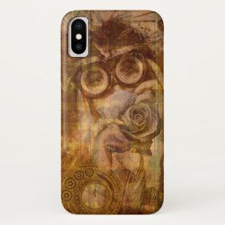 Steampunk Collagen-Telefon-Abdeckung iPhone X Hülle
