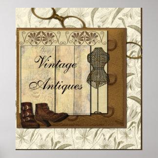 Steampunk Damenschneiderin-Raum Poster