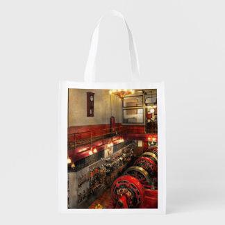 Steampunk - der Motor-Raum 1974 Wiederverwendbare Einkaufstasche