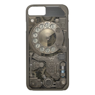 Steampunk Drehmetallskala-Telefon. Fall iPhone 8/7 Hülle