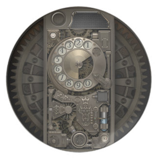 Steampunk Drehskala-Telefon-Hüllen.  G.O.S.Studio Party Teller