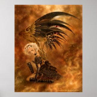 Steampunk dunkler Engels-Druck Plakat