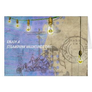 Steampunk Edison Lichter an einem Karte
