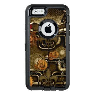 Steampunk Entwurf mit Uhren und Gängen OtterBox iPhone 6/6s Hülle