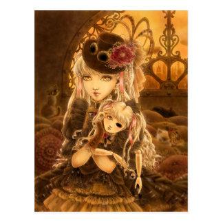 Steampunk Fantasie-Postkarte - es sei denn Postkarte
