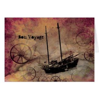 Steampunk Fantasie-Schiffs-Reisend-Reise-Karte Karte