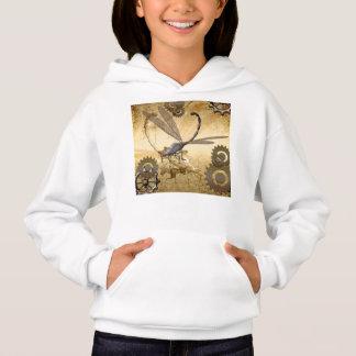 Steampunk, fantastische Libellen mit Gängen Hoodie