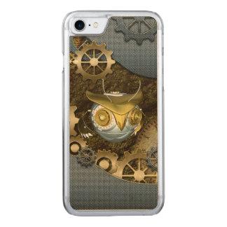 Steampunk, fantastische   mechanische Eule Carved iPhone 8/7 Hülle