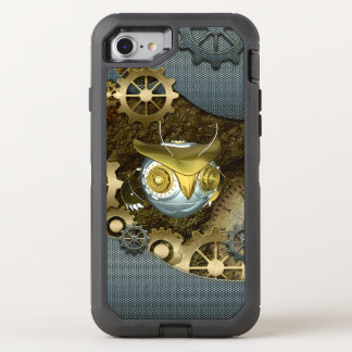 Steampunk, fantastische   mechanische Eule OtterBox Defender iPhone 8/7 Hülle
