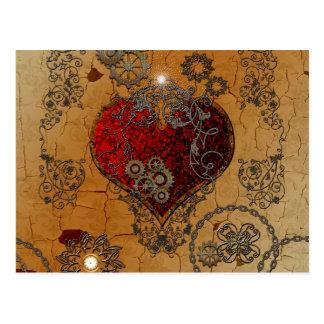 Steampunk, fantastisches Herz Postkarte