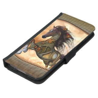 Steampunk, fantastisches steampunk Pferd Samsung Galaxy S5 Geldbeutel Hülle