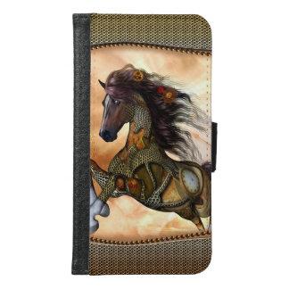 Steampunk, fantastisches steampunk Pferd Samsung Galaxy S6 Geldbeutel Hülle