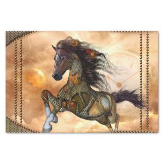 Steampunk, fantastisches steampunk Pferd Seidenpapier