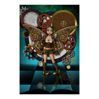 Steampunk feenhafte Plakat-Fantasie-Kunst Poster