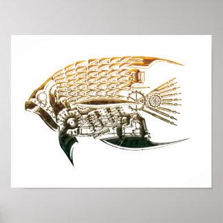 Steampunk Fischplakate Poster