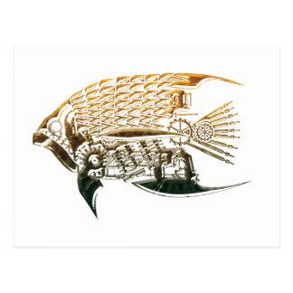 Steampunk Fischpostkarten Postkarte