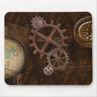 Steampunk Gänge, Kugel, Kompass-Grafik Mauspad