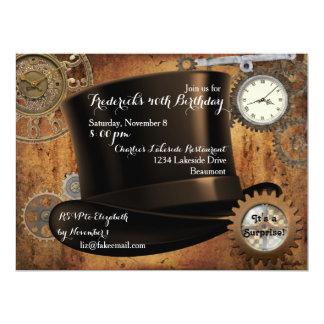 Steampunk Geburtstags-Party Einladung