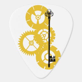 Steampunk gelbe Gänge Plektron