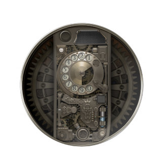 Steampunk Gerät - Drehskala-Telefon Porzellanteller