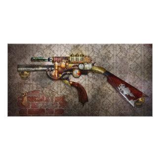 Steampunk - Gewehr - der Sidearm Bilderkarten