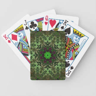 Steampunk Grün-Mandala böhmischer Hippie schicke Bicycle Spielkarten