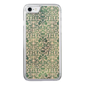 Steampunk grüner Damast beunruhigtes mit Carved iPhone 8/7 Hülle